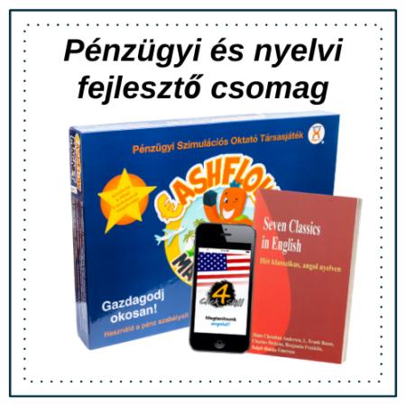 Gyereknapi társasjáték + nyelvi szoftver csomag